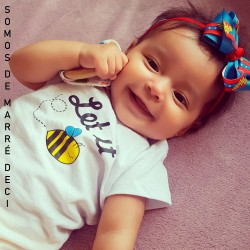 Camiseta Let it Bee | Bebê