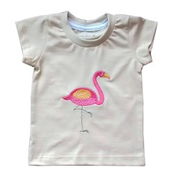 Camiseta Flamingo | Bege...