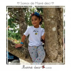 Camiseta Let it Bee Infantil | Branca